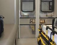 Hook loop attach cushioning panels in an ambulance or bus.